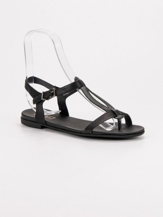 Čierne sandále žabky