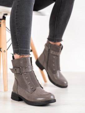 Šedé topánky s gumou