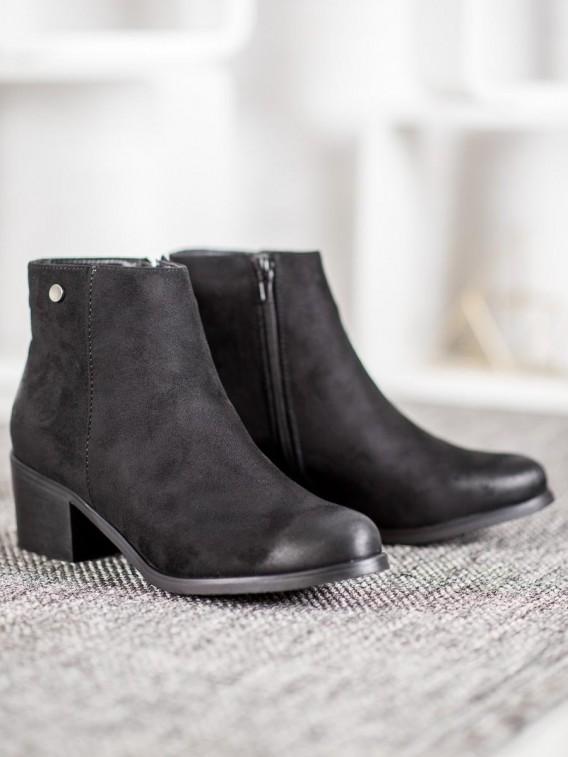 Klasické semišové členkové topánky