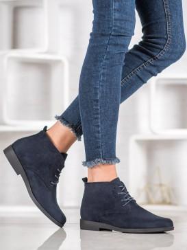 Pohodlné semišové členkové topánky