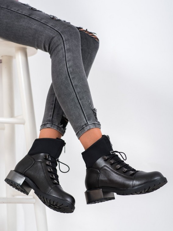 Čierne workery Fashion