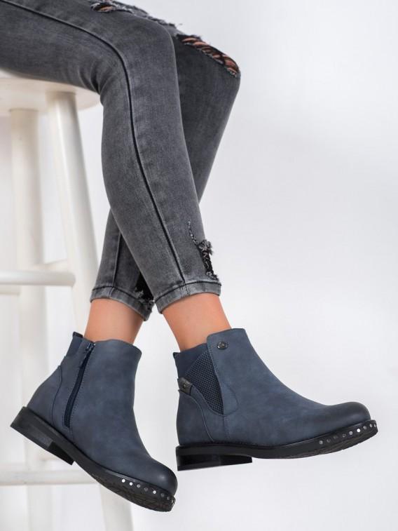 Členkové topánky z kože