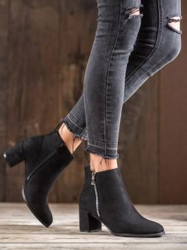 Semišové klasické členkové topánky