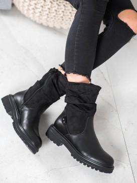 Zateplené členkové topánky na platforme