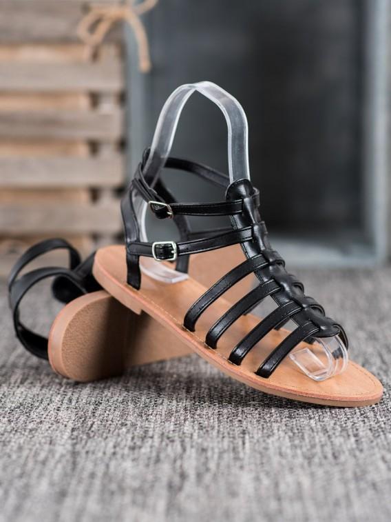 Čierne sandále rimanky