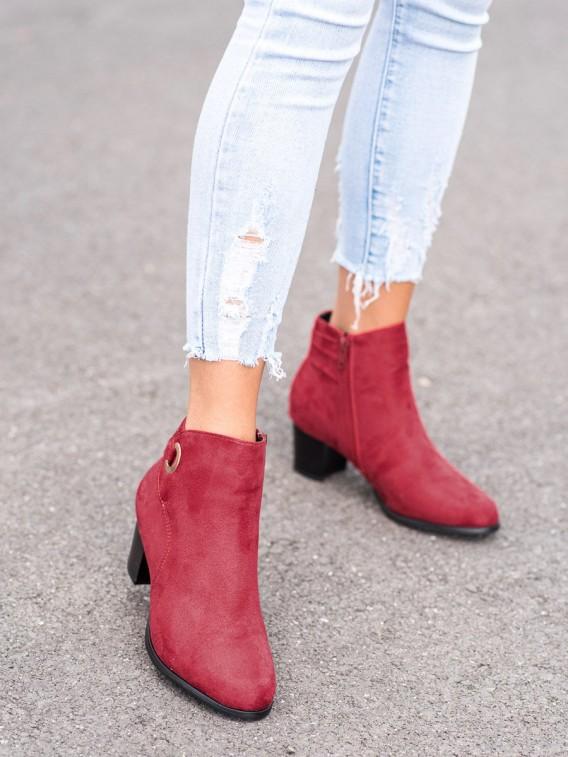 Pohodlné červené členkové topánky