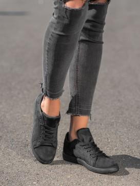 Čierne semišové tenisky
