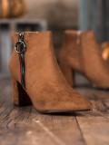 Semišové nazúvacie členkové topánky