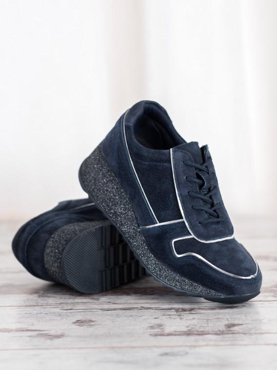 Kožené sneakersy s brokátovou podrážkou