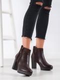 Hnedé topánky so zipsom