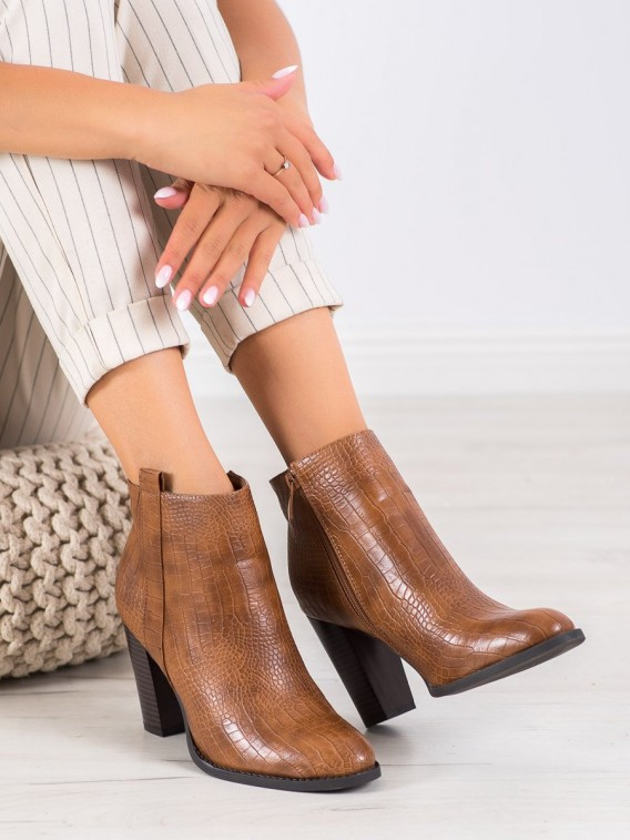 Členkové topánky z eko kože