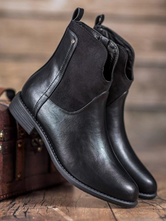Pohodlné čierne topánky