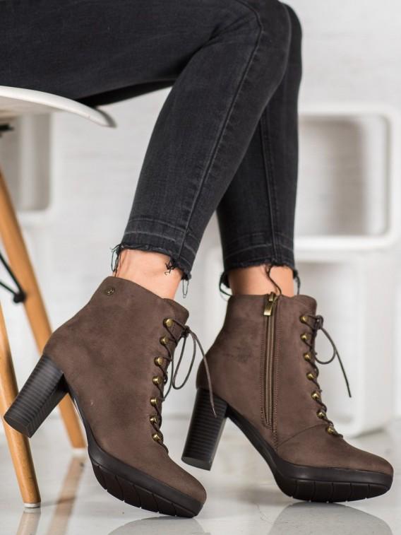 Zateplené semišové topánky