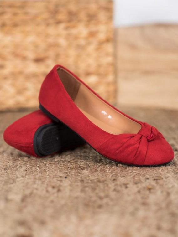 Pohodlné semišové baleríny