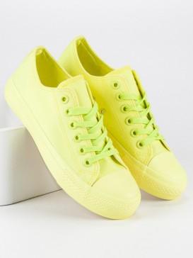 Žlté tenisky so šnurovaním 825-1-A-Y