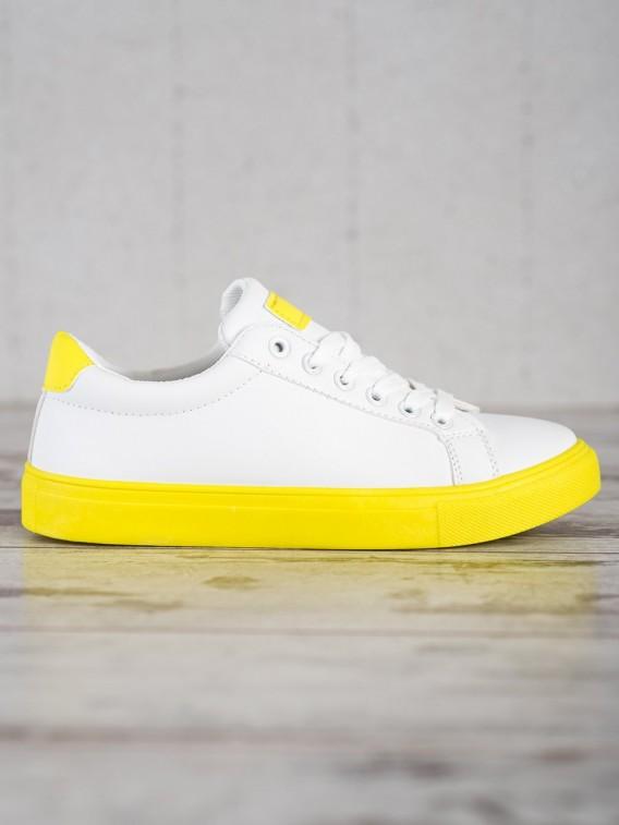 Obuv s citronóvo žltou podrážkou