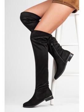 Semišové čižmy nad kolenami
