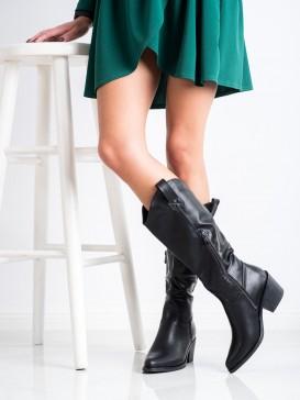 Čierne kovbojské čižmy