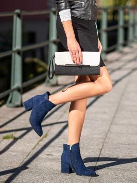 Tmavo modré členkové topánky