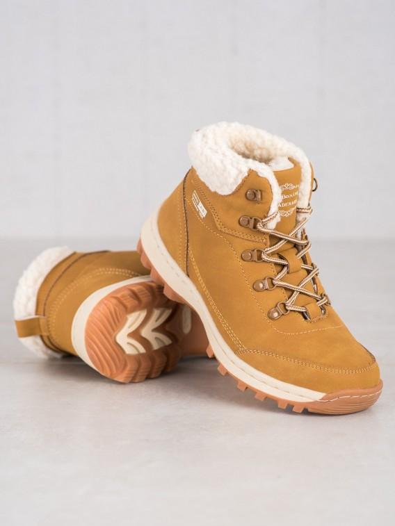 Trekingové topánky s kožúškom