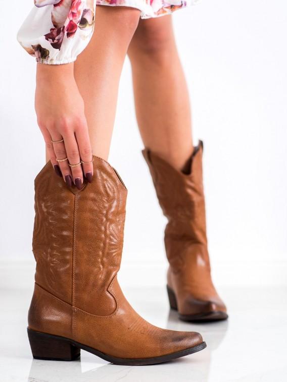 Hnedé kovbojské čižmy