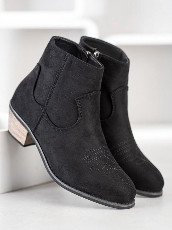 Členkové topánky na nízkom stĺpci