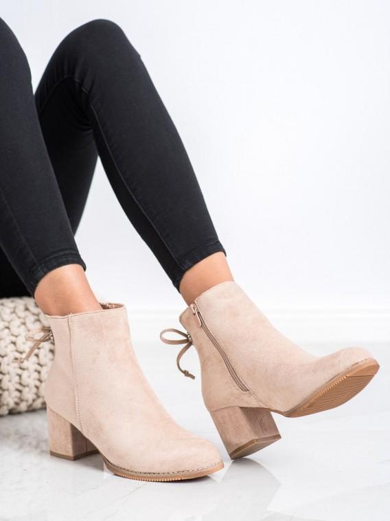 Členkové topánky s viazaním