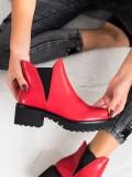 Nazúvacie členkové topánky z eko kože