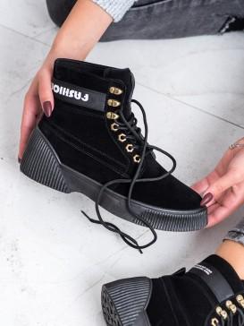Viazané členkové fashion topánky