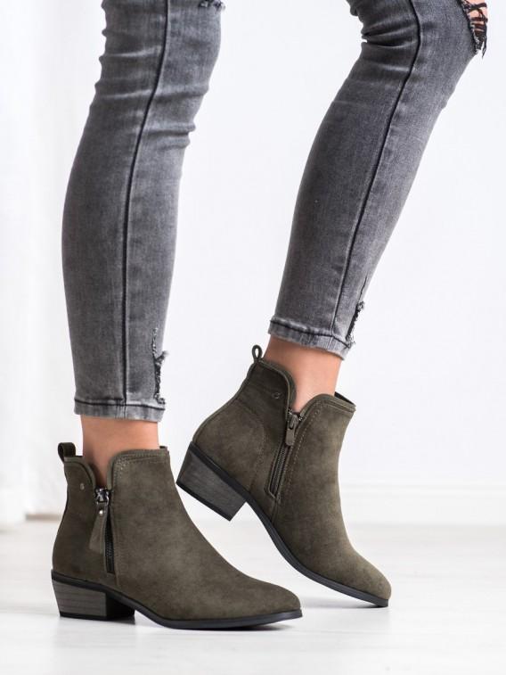 Členkové topánky s ozdobným zapínaním