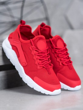 Červené textilné sneakersy