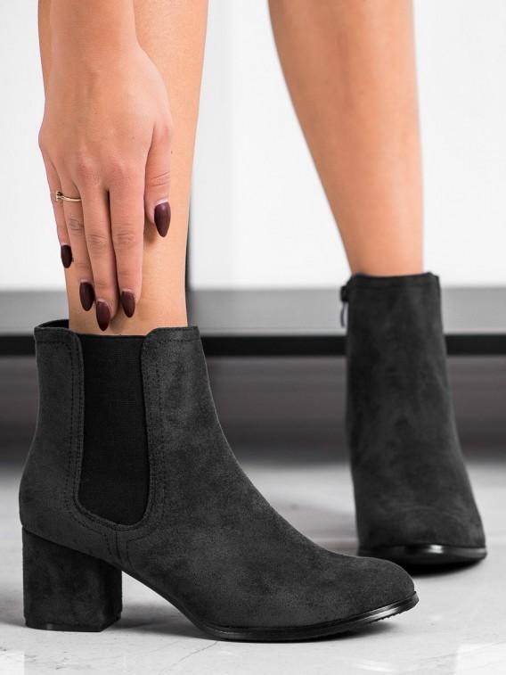 Zateplené topánky na podpätku