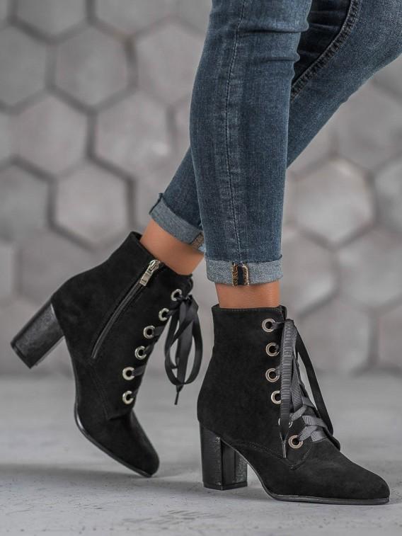 Členkové topánočky s mašľou