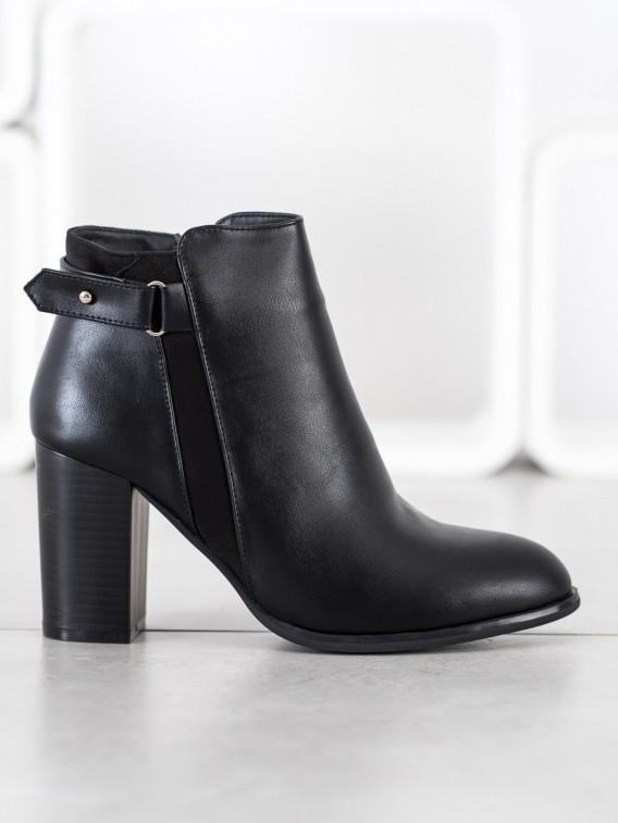 Elegantné členkové topánky z eko kože