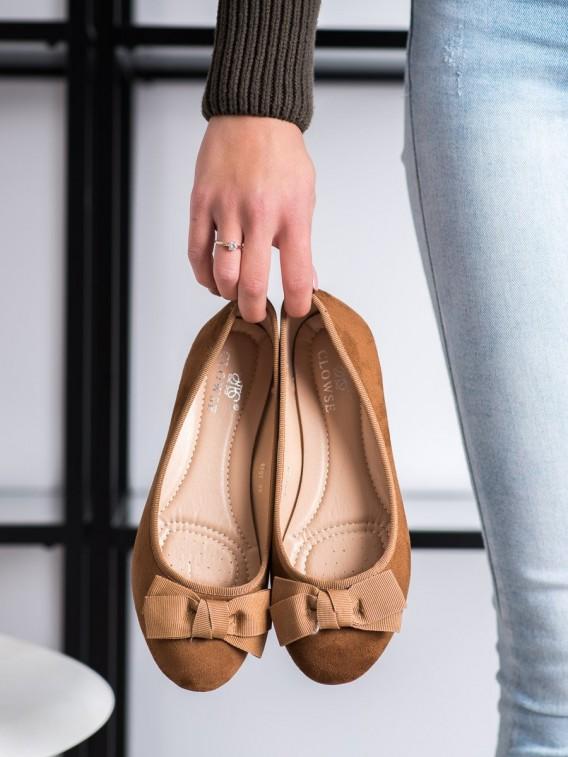 Štýlové baleríny s mašľou