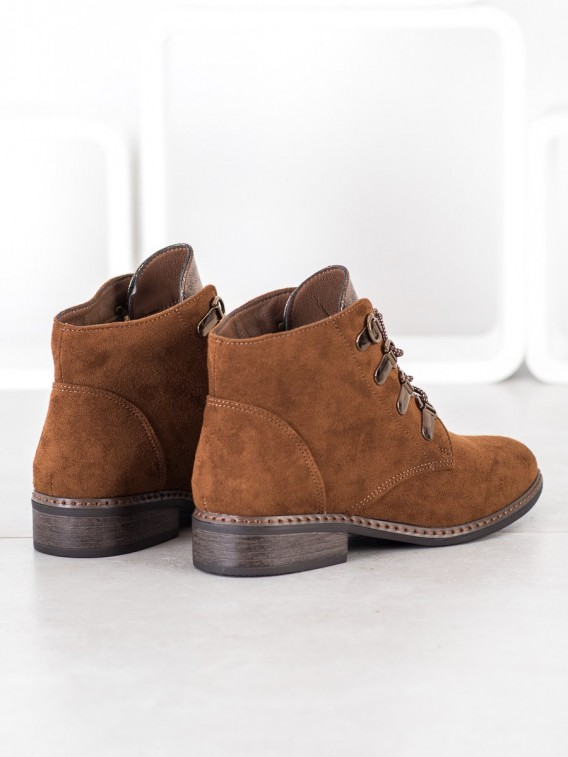 Elegantné šnurovacie členkové topánky
