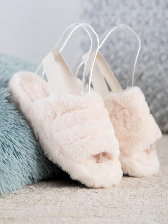 Zateplené papuče s kožúškom