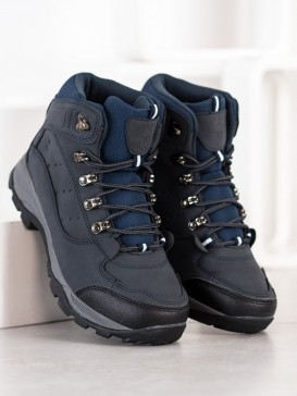 Tmavomodré trekingové topánky
