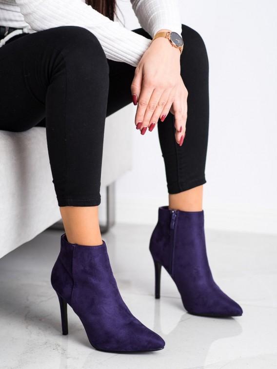 Štýlové členkové topánky na podpätku