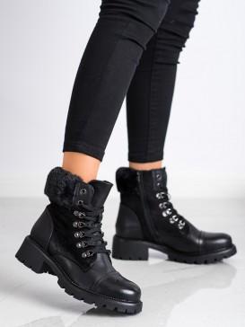 Zateplene viazané členkové topánky