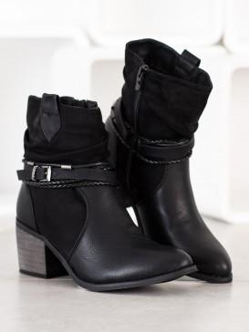 Členkové topánky s ozdobným remienkom