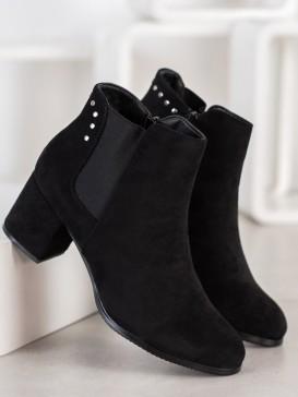 Teplé topánky na podpätku