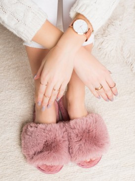 Štýlové ružové papuče