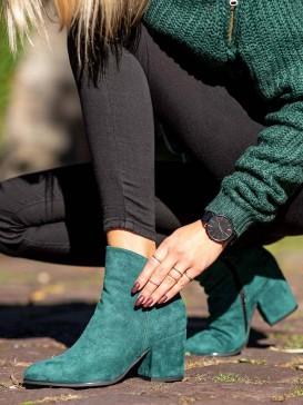 Zelené členkové topánky