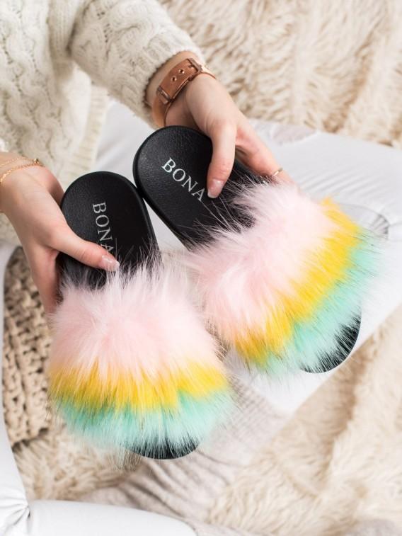 Farebné nazúvačky s kožúškom