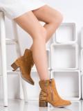 Hnedé členkové topánky Fashion