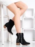 Čierne členkové topánky Fashion