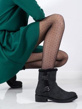 Čierne členkové topánky s prackami