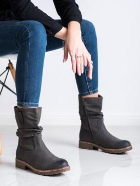 Členkové topánky so skladacím zvrškom