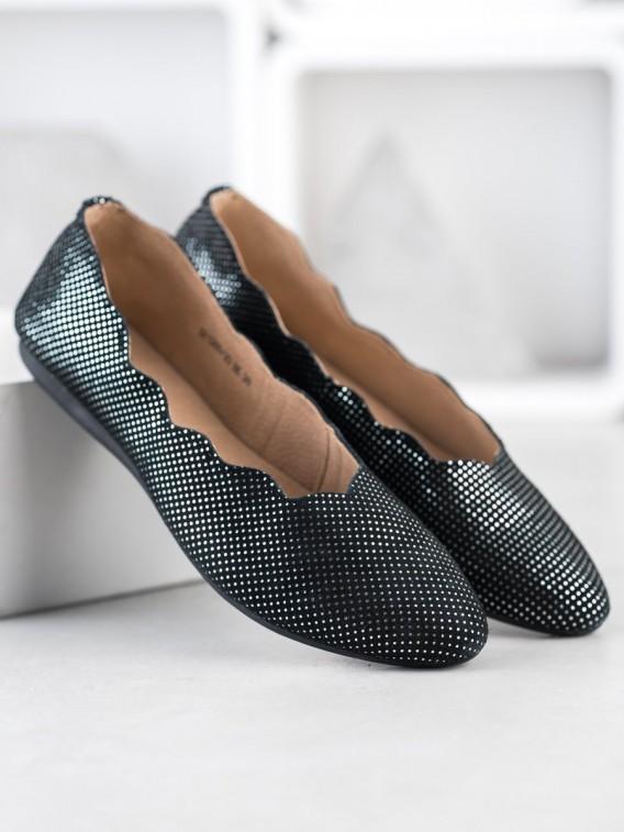 Elegantné kožené baleríny